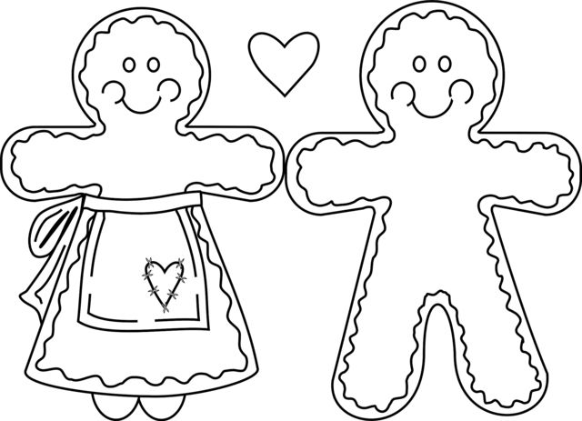 gingerbread people christmas coloring pages pinterest