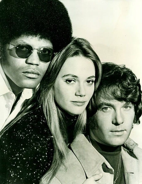 The Mod Squad. The main cast is pictured, from left: Clarence Williams III, Peggy Lipton, Michael Cole.