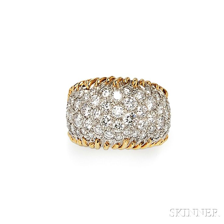 """18kt Gold and Diamond """"Stitches"""" Ring, Schlumberger, Tiffany & Co. 