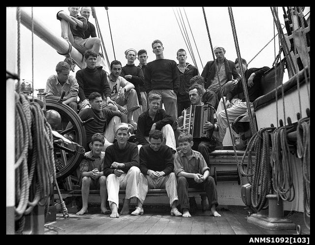 Sailors on a ship