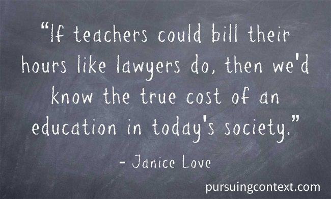 If Teachers Billed Like Lawyers