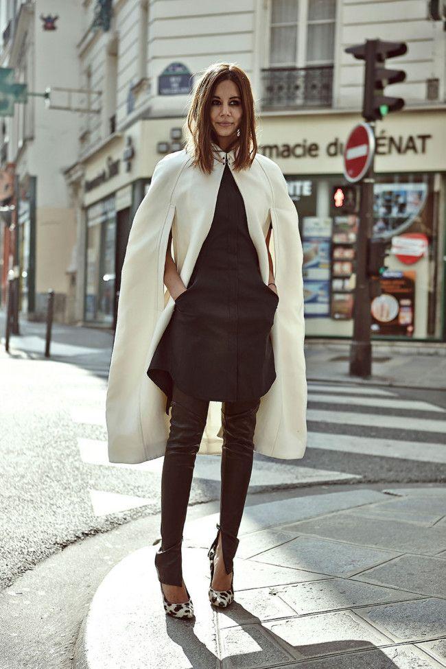 Christine Centenera: Burberry cape, 3.1 phillip lim dress, Bassike pants, Celine shoes.