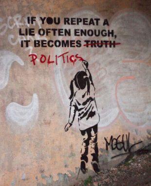 Banksy lie politics