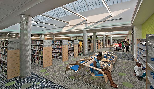 Year in Architecture 2014: Open to the Elements - The Savage Branch & STEM Education Center, Howard County Library System, Laurel, MD, focuses on science and technology, as tubular skylights harvest natural light and exterior windows flood the building with light.