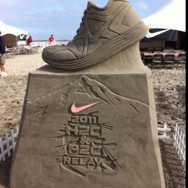 Hood to Coast relay sand sculpture