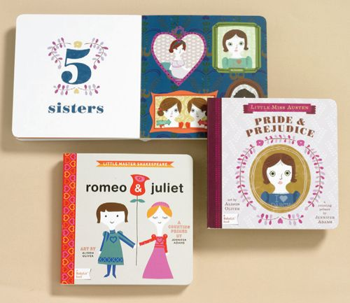 "Toddler's Pride and Prejudice counting book...""One English village; two rich gentlemen—Mr. Bingley and Mr. Darcy; three houses—Longbourn, Netherfield, and Pemberly…"""