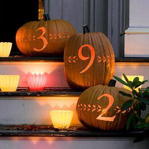 Address pumpkins - love this idea!