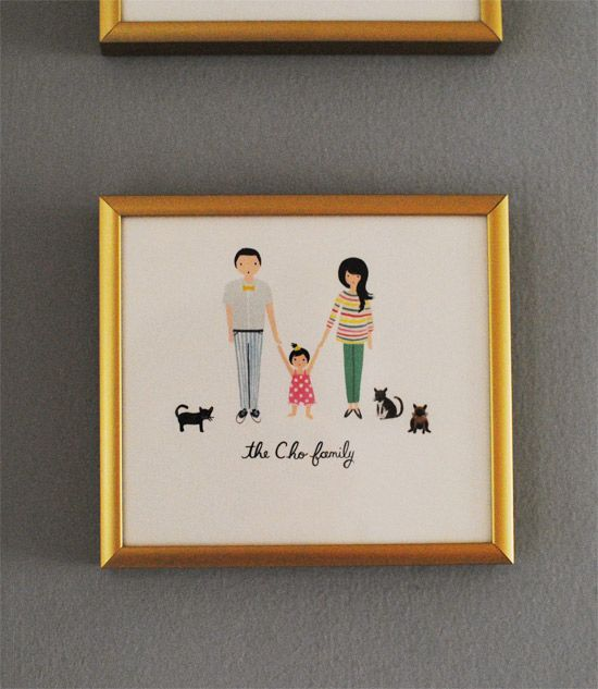 Oh Joy family portrait print from Rifle Paper Co