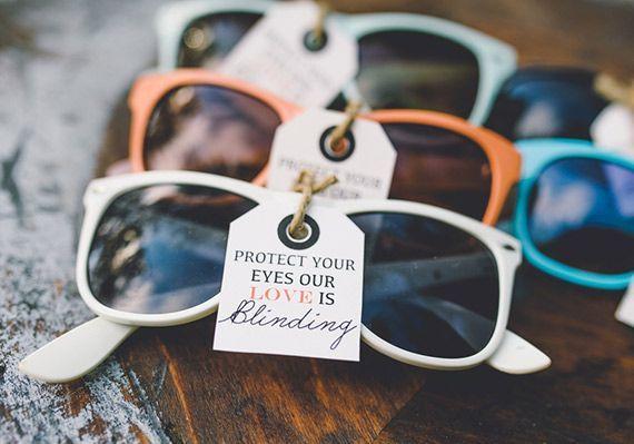 Sunglasses wedding favours