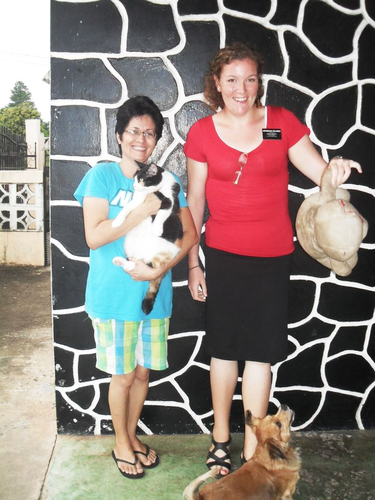 Hermana Brandareis, me, with her cat and dog.