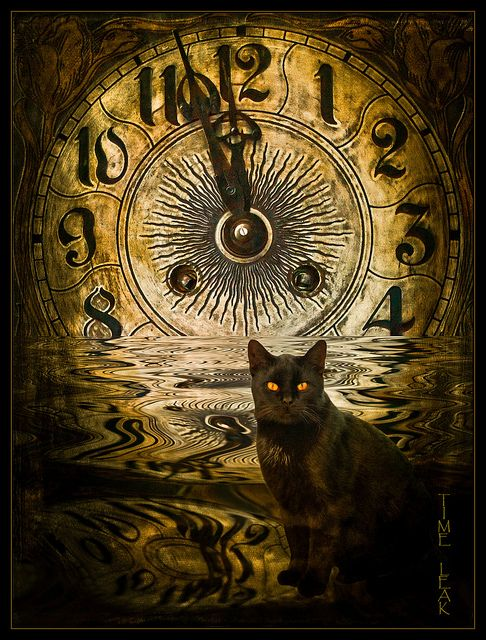 """Time Leak -- by Sabine Harti. Surreal Time Art. Re-pinned by Dew Pellucid, author of """"The Sound & The Echoes"""" (http://thesoundandtheechoes.com)."""