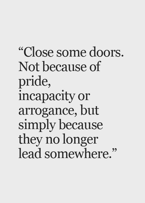 Ok to close some doors.