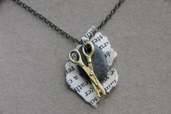 Rock Paper Scissor Necklace by RPSshoot on Etsy, $21.00