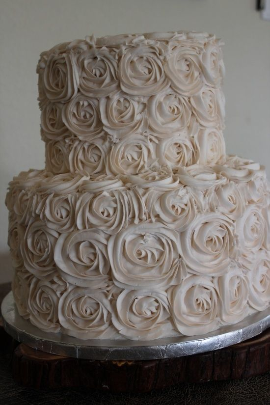 Rosette Wedding Cake, wish my cake turned out better