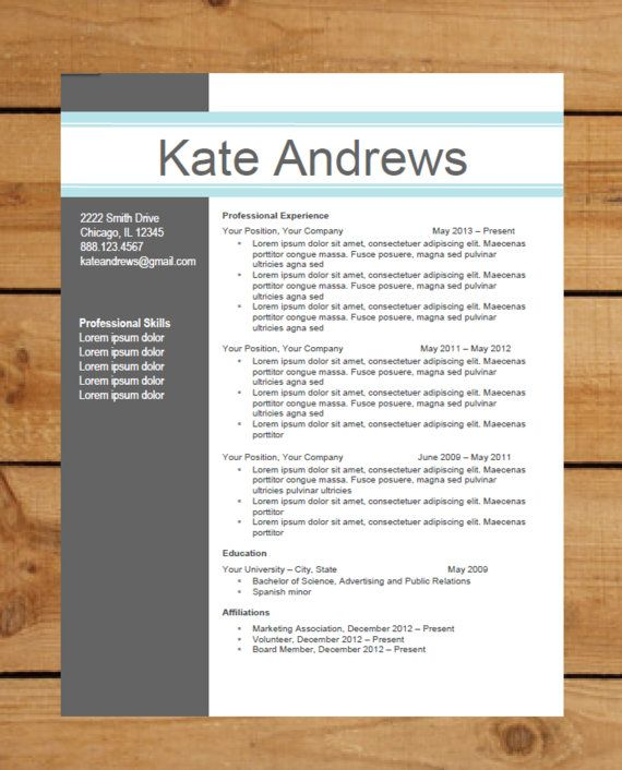 Word Document Resume Samples. modern resume template view download ...