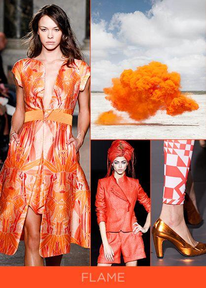 spring 2014 color trend flame orange colors trends pinterest