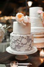 Lace Wedding cake from Layered Bake Shop McKinney Texas!