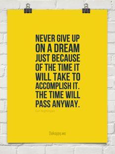 Never give up on a dream just because of the time it will take to accomplish it.  The time will pass