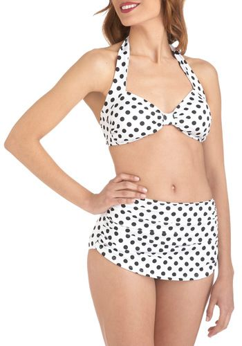 Beach Blanket Bingo Two Piece in White, #ModCloth- Just ordered this suit!
