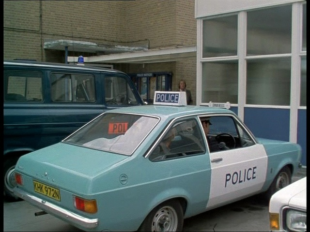 Police car 1976. Ford Escort mk2