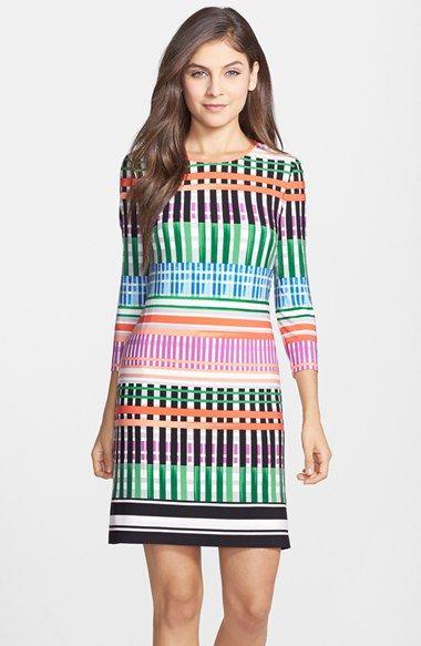 Eliza J Print Jersey A-Line Dress