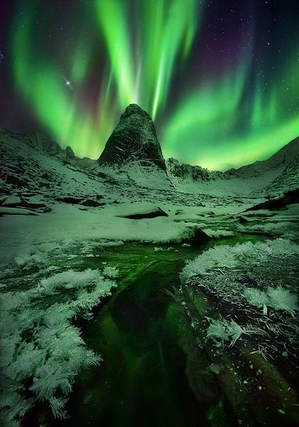 ghiaccio, Yukon, aurora, Ogilvie, montagne, unico