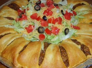 Pillsbury's Crescent Roll Taco Bake Recipe