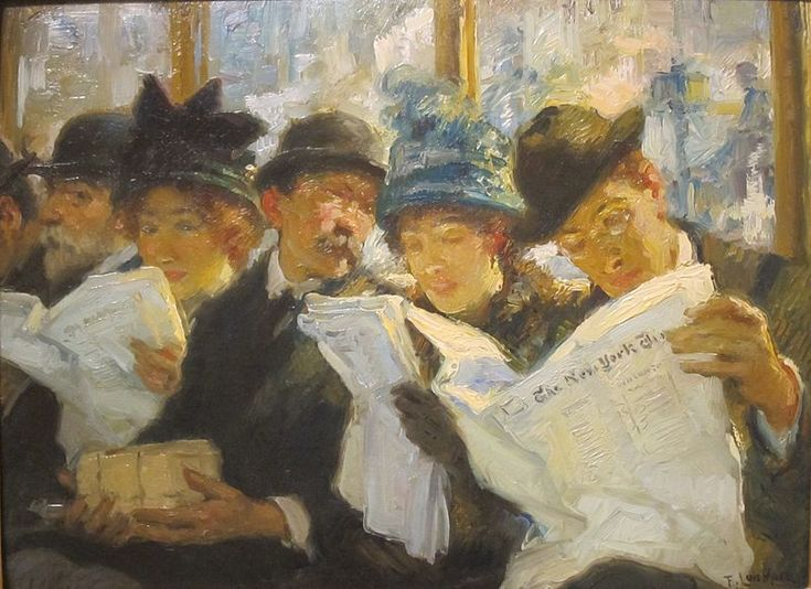 Francis Luis Mora (Hispanic American 1874-1940) Morning News, 1912.
