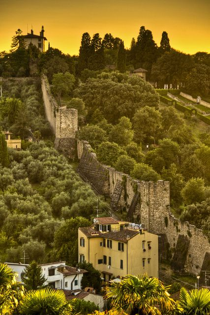Florence, Italy - The ancient Roman city was founded around 60 B.C. In total 6 separate city walls were built as the city grew and shrunk over the centuries. Most are still visible today.