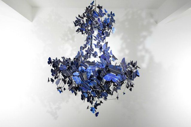 This Chandelier made by dutch artist Jeroen Verhoeven is, well its gougers, but also very geeky with each hand made beautify crafted out of solar cells and all wired to gather to yep you guessed it make this beautiful chandelier need no plug.