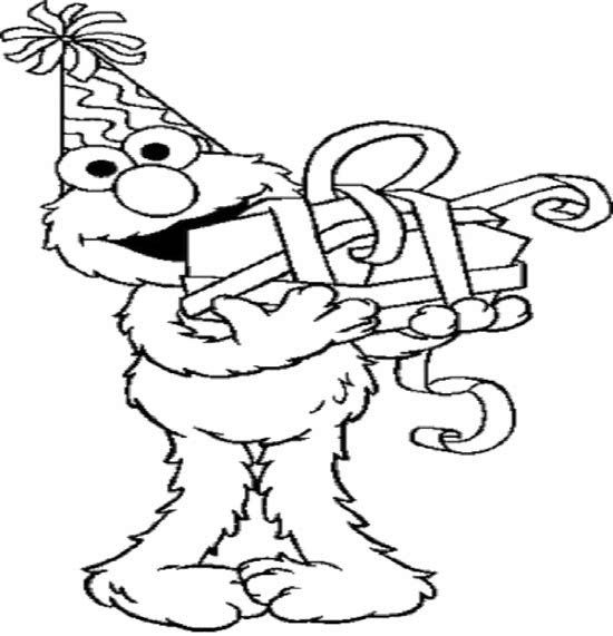 elmo first birthday coloring pages elmo birthday coloring page