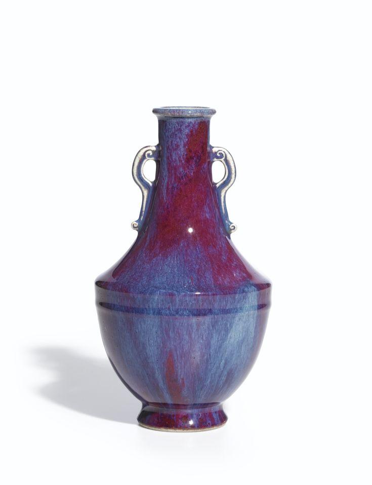 A superb flambé-glazed vase, Seal mark and period of Qianlong