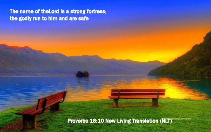 Proverbs 18.10 New Living Translation (NLT)