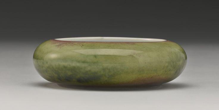 A peachbloom-glazed brush washer (Tangluoxi), Kangxi mark and period