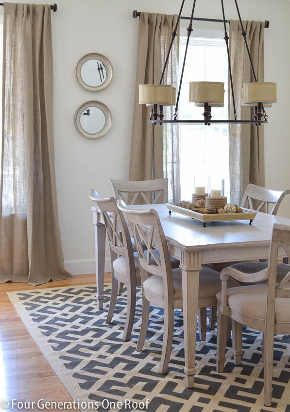 home design, home decor, dining room, rug, mix