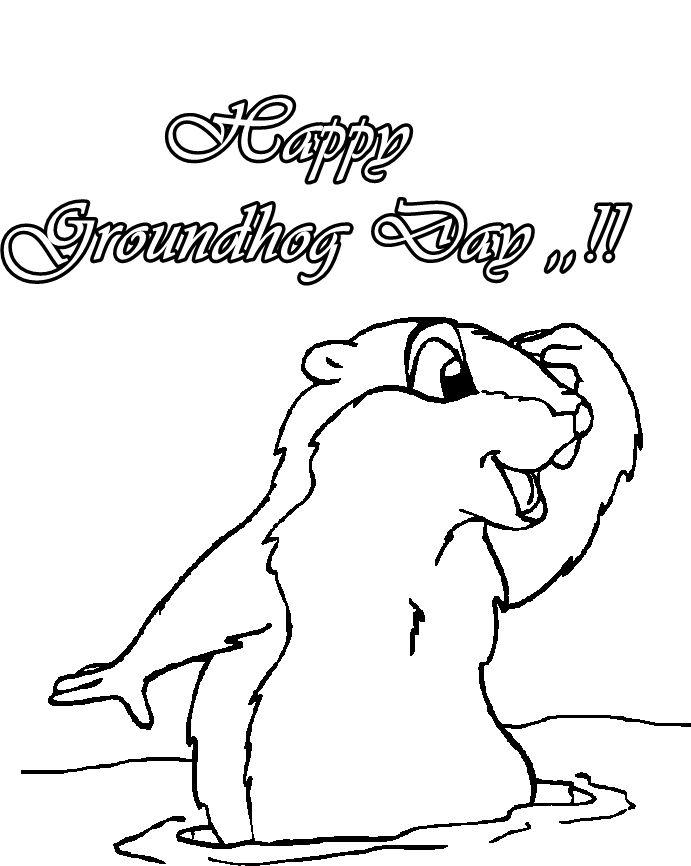 Groundhog Day Coloring Sheets. groundhog coloring sheets on rf ...