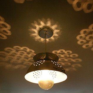 Colander Lamp