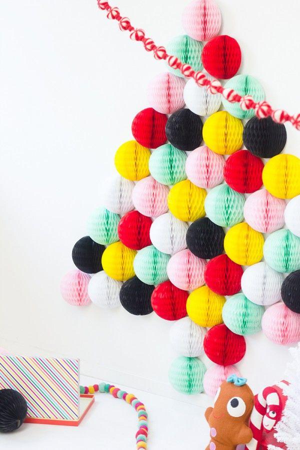 DIY Honeycomb Christmas Tree