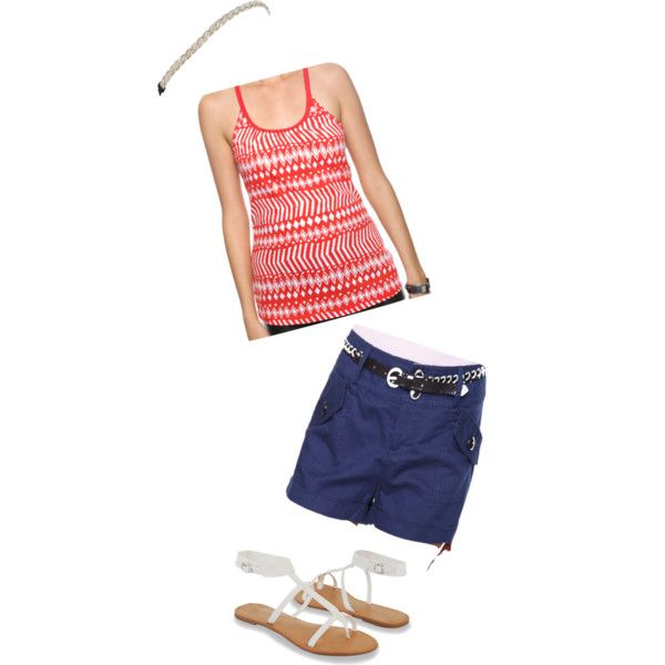 """Fouth of July"" by alenaloo on Polyvore"