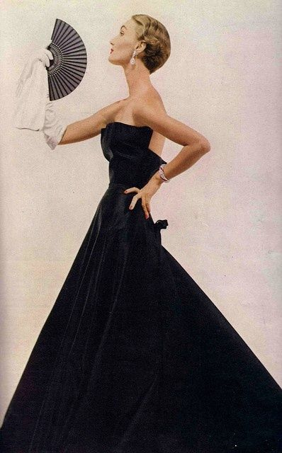 Evelyn Tripp in Christian #Dior 1949 #vintage #fashion #hair #beauty #makeup #diy #ideas #wedding #love #quotes #photography #Paris #onedirection #justinbieber #style #girl #gown #bride #runway #beautiful #newyork #prom