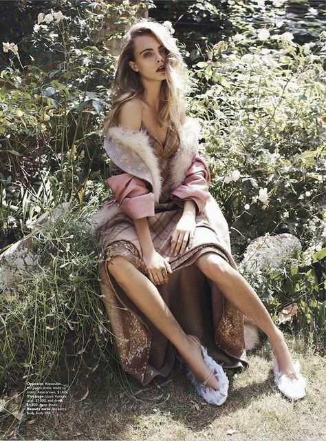 'Queen Cara' Cara Delevingne by Benny Horne for Vogue Australia October 2013