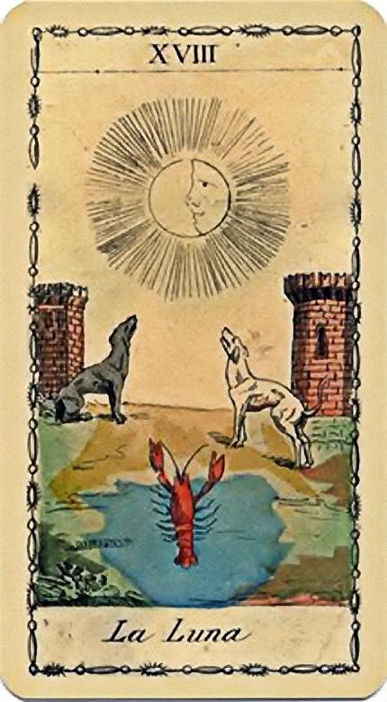 The Moon - XVIII - Major Arcana | Tarot art