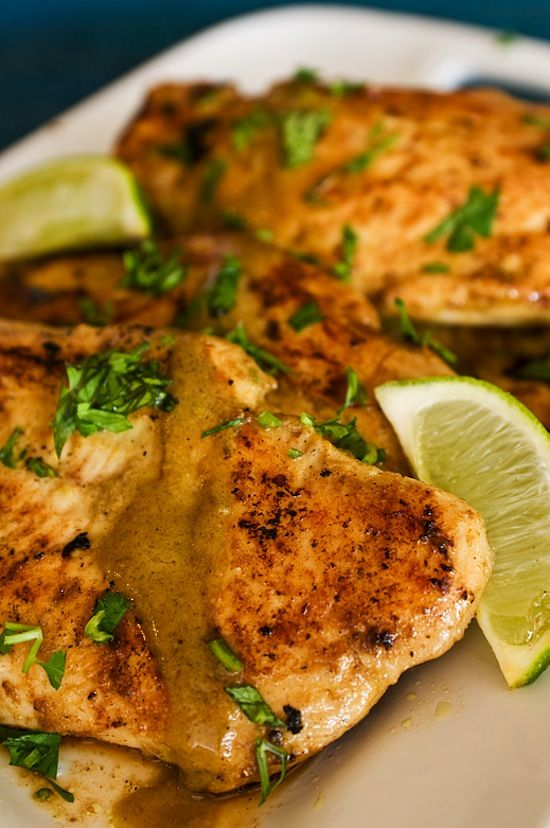 Lime & Coconut Chicken. This recipe is incredible. The combination of spices, fresh lime, cilantro, and coconut milk give this dish tons of flavor, and it's super easy to make!!