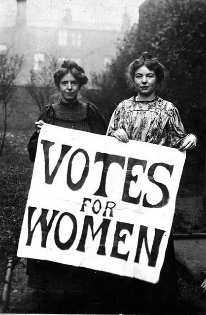 Suffragettes ~ 1911 - thank goodness for these brave women!