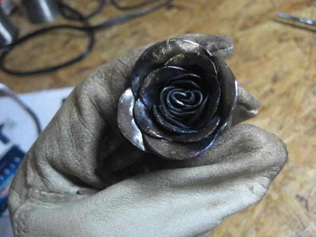welded flower welding pinterest