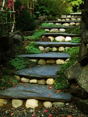 Pietra sentiero del giardino