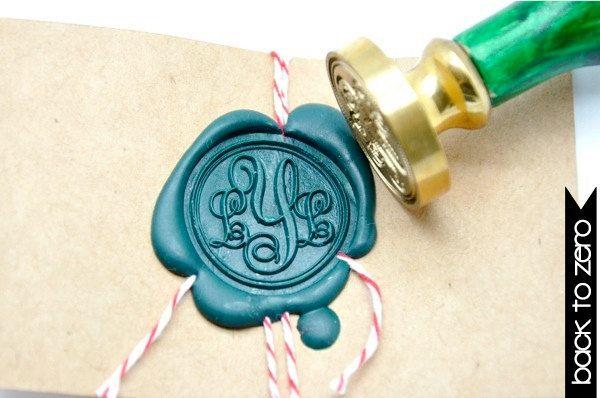 Personalized+Custom+Initials+Monogram+Gold+Plated+by+BacktoZero,+$25.00