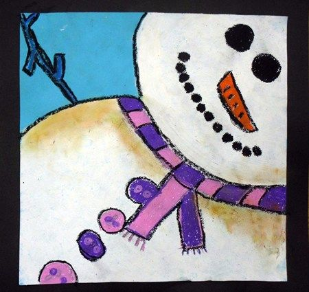 snowman close-up - 2nd or 3rd grade