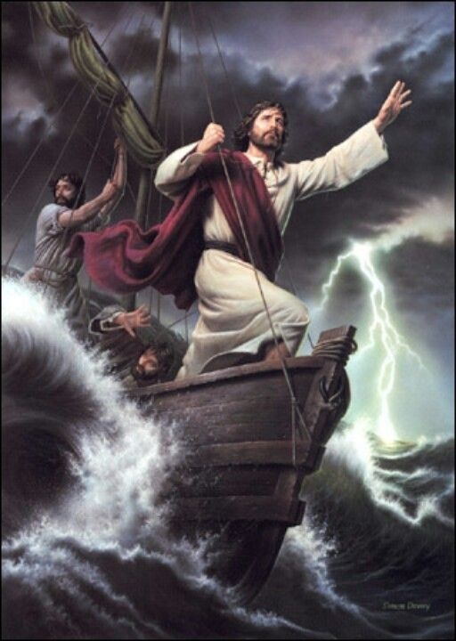 """Calm In Your Storm: Then Jesus got into the boat and started across the lake with his disciples. Suddenly, a fierce storm struck the lake, with waves breaking into the boat. But Jesus was sleeping. The disciples went and woke him up, shouting, """"Lord, save us! We're going to drown!"""" Jesus responded, """"Why are you afraid? You have so little faith!"""" Then he got up and rebuked the wind and waves, and suddenly there was a great calm. The disciples were amazed. """"Who is this man?"""" they asked. """"Even t..."""