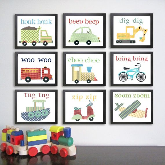 SELECT 4 8 X 10 Transportation Nursery Art Prints by justbunch, $59.00